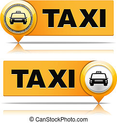 Taxi Banners - Two taxi banners, vector eps10 illustration