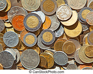 Old coins - Collection of the old circulated coins