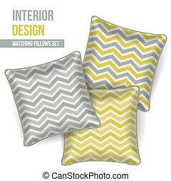 Set of decorative pillow - Set of 3 matching decorative...