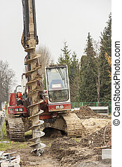 Drilling machine.