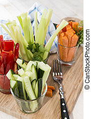 Fresh diet food - Crudites stripes fresh diet food