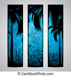 Summer holiday banners - Three grunge summer holiday banner