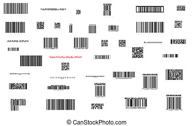 barcode collection - fine image of different barcode...
