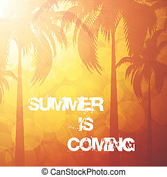 Summer holiday background - Orange summer holiday background