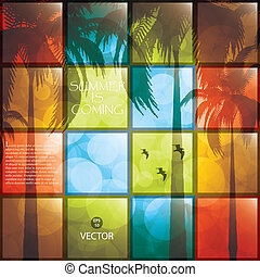 Lovely summer poster. Vector collage