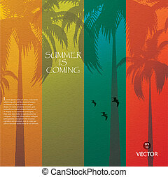 Tropical background - Grunge summer holiday...