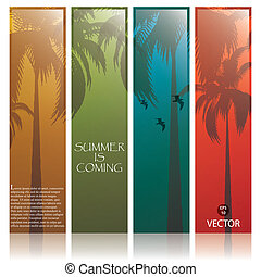 Lovely summer banners.Vector