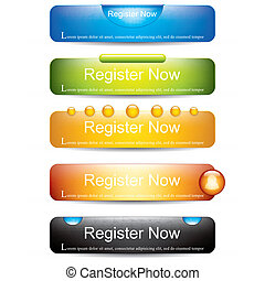 Register now button collection