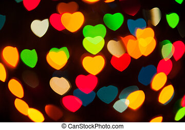 abstract festive hearts bokeh