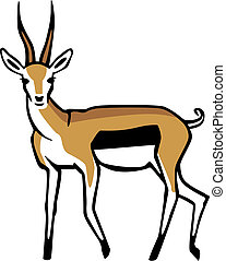 Thomsons Gazelle - stylized vector illustration of a...