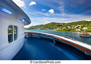 Cruise ship view - Beautiful cruise ship view in St. Thomas