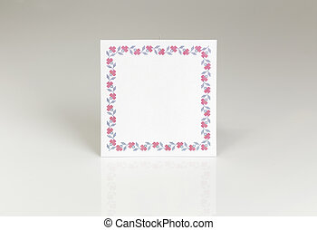 Blank place card for wedding table