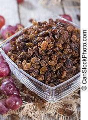 Raisins - Heap of Raisins with fresh fruits