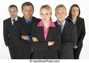 Team Of Determined Business People