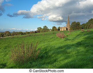 Cotswold church - Saintbury church near Chipping Campden,...