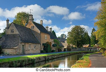 Lower Slaughter, Cotswolds - The pretty Cotswold village of...