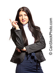Successful business woman - isolated over white