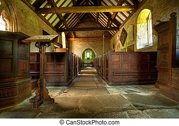 Rural church, Shropshire - Small parish church at Shipton...