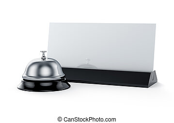 Reception bell with card - 3d render of reception bell with...
