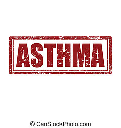 Asthma-stamp - Grunge rubber stamp with word Asthma,vector...