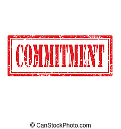 Commitment-stamp - Grunge rubber stamp with word...