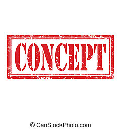 Concept-stamp - Grunge rubber stamp with word Concept,vector...