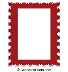 Blank Postage Stamp Isolated on White Background,vector...