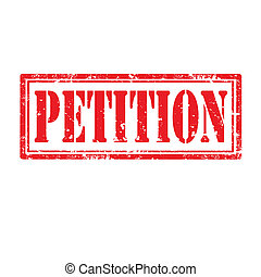 Petition-stamp - Grunge rubber stamp with word...