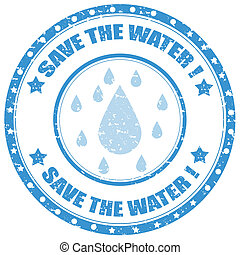 Save The Water-stamp