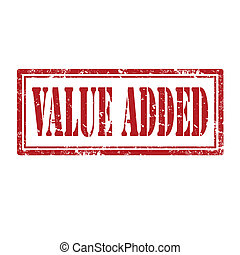 Value Added-stamp - Grunge rubber stamp with text Value...