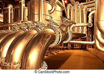pipeline inside refinery 1 - pipelines inside oil refinery....
