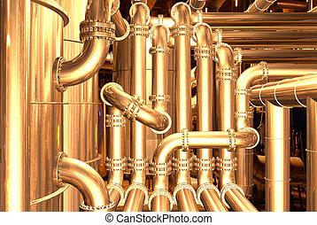 pipeline inside refinery 3 - pipelines inside oil refinery....