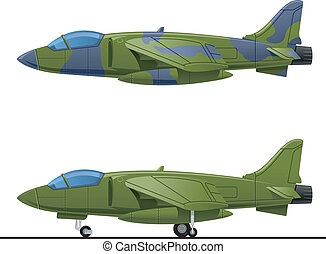fighter - illustration of a pursuit plane. Simple gradients...