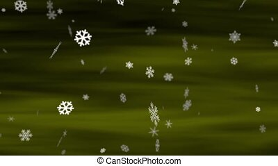 Snowflakes Olive Loop