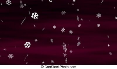 Snowflakes Burgundy Loop