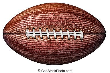 Football Illustration - Digital illustration of a football...