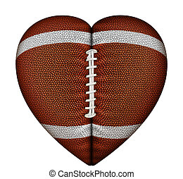 Heart Football - Digital illustration of a heart-shaped...