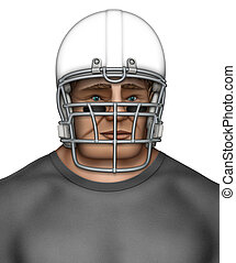 Football Player - Digital illustration of a helmeted...