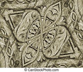 Wood Ornament Background