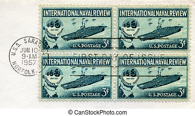 Naval Review Stamps - U.S. Postage Stamps commemorating the...