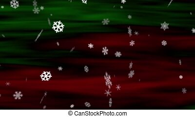 Snowflakes Red-Green Loop - Perfectly seamless (no fade)...