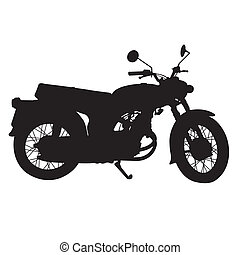 silhouette of vintage motorcycle  v