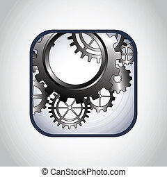 gears design - gears design over gray background vector...