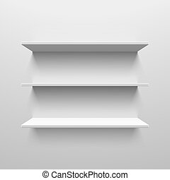Three white shelves - White shelves