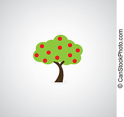 apple tree on gray background