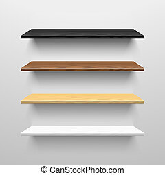 Wooden shelves illustration