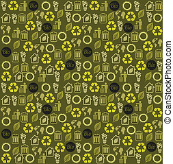 eco design - eco design over pattern background vector...