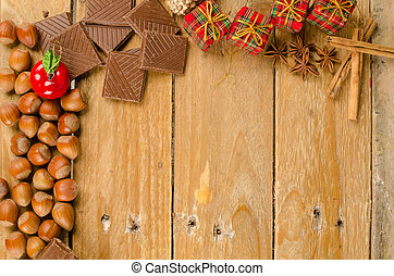 Assorted Christmas treats - Assorted treats on a table with...