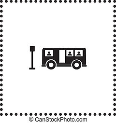 bus symbol on white background