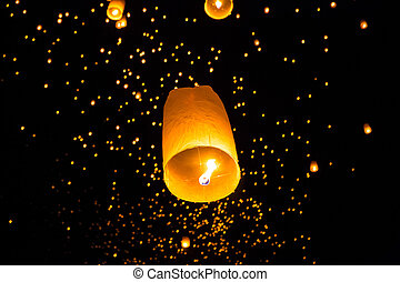 Thai Flying Sky Lantern - Flying Sky Lantern on Yeepeng...